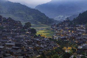 liupanshui qianhu miao village guizhou china
